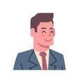 male happy smiling emotion icon isolated avatar vector image vector image