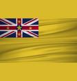 niue flag flag of niue blowig in the wind eps 10 vector image vector image