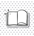 Open book and literature design vector image