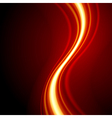 Orange smooth waveform background