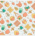 organic farming seamless pattern vector image vector image
