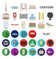 park equipment cartoon icons in set collection vector image vector image