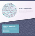 public transport concept in circle vector image