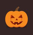 pumpkin for halloween vector image vector image