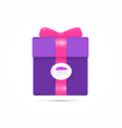 Purple Pink Present Box Gift Box vector image vector image