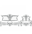 Royal Sofa and Armchair set vector image vector image