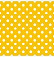 Seamless pattern white polka dot yellow background