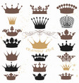 set crowns for your heraldic design vector image vector image