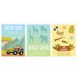set posters for safari tour african wildlife vector image vector image