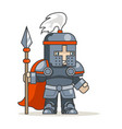 spear warrior guardian knight fantasy medieval vector image