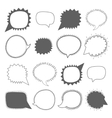 Speech bubbles collection vector image