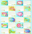 spring sale off set of advertisement labels flower vector image vector image