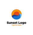 sunset logo design inspiration vector image vector image