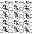victorian and floral monochrome background vector image vector image