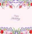 Watercolor wildflowers background vector image vector image