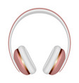 Woman headphones icon realistic style