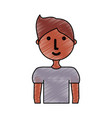 young man doodle vector image vector image