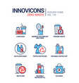 zero waste - line design style icons set vector image