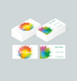business card template with abstract background vector image