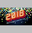 2018 numbers invitation vector image
