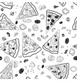 pizza slices seamless pattern vector image