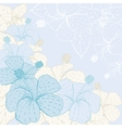Card with stylized flowers vector image