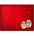 A happy couple in love vector image vector image