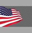 american flag waving in wind vector image