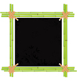 bamboo asian frame vector image