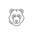 bear trend line icon concept bear trend vector image