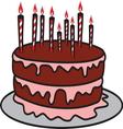 birthday cake2 resize vector image