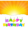 Birthday Design vector image vector image