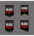 Black Friday ribbon tag set vector image vector image