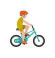 boy riding bike vector image