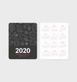 calendar 2020 japanese restaurant monthly vector image