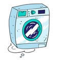 cartoon image of washing machine vector image