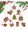 christmas celebration with gingerbread cookies vector image vector image