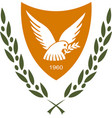 coat of arms of cyprus vector image vector image