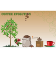 Coffee evolution vector image vector image