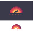 Coyote howling icon vector image