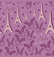 eiffel tower and lavender flowers-love in parise vector image