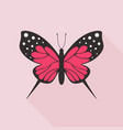 flat butterfly9 vector image vector image