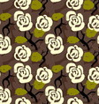 Floral seamless pattern background with roses and vector image vector image