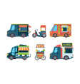 food truck pushcart picking transport hawkers vector image