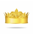 Gold crown with white gems vector | Price: 1 Credit (USD $1)
