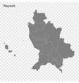 high quality map is a state mexico vector image vector image