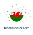 independence day of wales patriotic banner vector image vector image