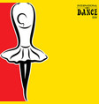international dance day greeting vector image vector image