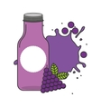 juice fruit bottle silhouette icon vector image vector image