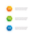 layout workflow outline colorful menu for app vector image vector image